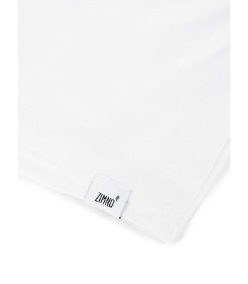 T-Shirt Oversize Damski Biały w Róże